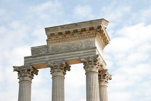Temple, Fragment, Architecture, History, Xanten