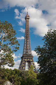 Eiffel Tower, Paris, France, Architecture, Landmark