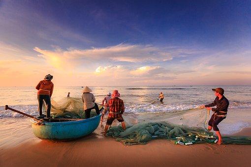 The Fishermen, Fishing, The Work, The Sea