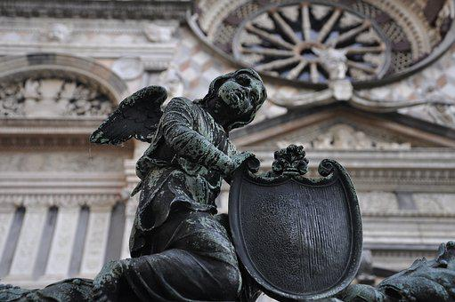 Bergamo, Statue, Angel, Lombardy, Bergamo Alta