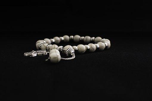 Bracelet, White, Accessories, Craft, Jewelry, Braslette