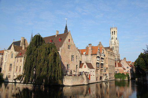 Bruges, Belgium, Romantic, Channel, Places Of Interest