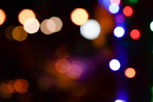 Light, Bokeh, Colors, Blur, Shiny, Color, Holiday, Glow