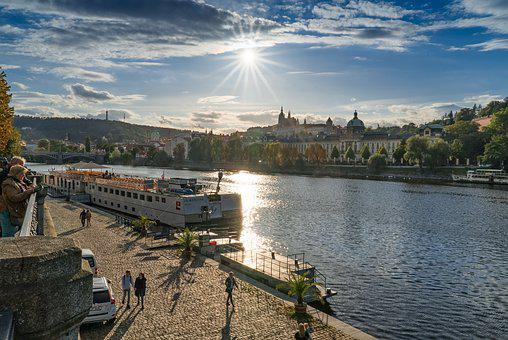 Prague, Sun, Architecture, Czech, Famous, River