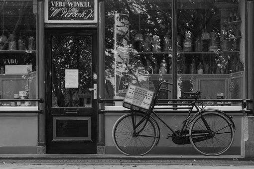 Vintage, Shop, Bike, Holland, Dutch, Travel, City