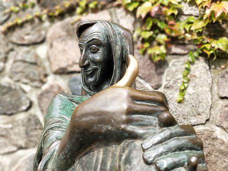 Statue, Mölln, Till Eulenspiegel, Eulenspiegel