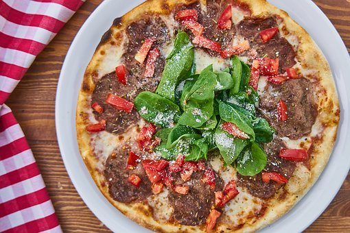 Pizza, Dough, Tomato, Macro, Beautiful, Health, Food