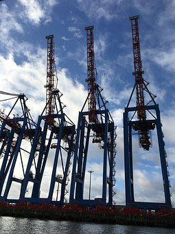 Cranes, Container Port, Hamburg
