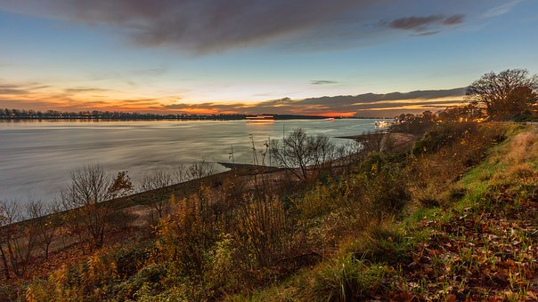 Wedel, Hamburg, Nature, Elbe, Elbufer, Beach, River