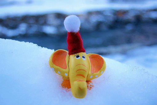 Winter, Santa Hat, Happy Holidays, Christmas
