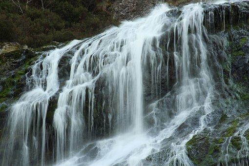Powerscourt, Waterfall, Wicklow, Ireland, River, Nature