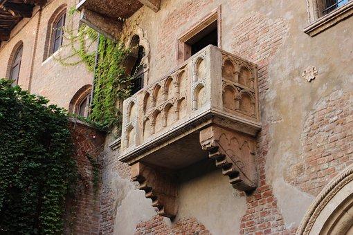 Balcony, Verona, Veneto, Italy, Monument, Tourism