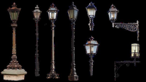 City Furniture, Lanterns, Lighting, Lamp, Isolated