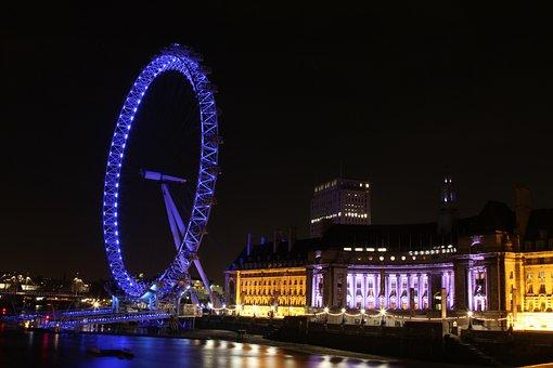 London Eye, London Streets, London At Night