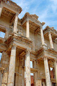 Turkey, Ancient, Antiquity, Library, Monument