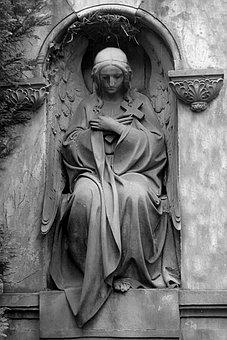 Sculpture, Plastic-sculpture, Statue, Woman, Mother