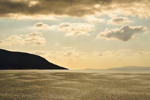 Landscape, Mountains, Shadows, Morning, Horizon, Sky