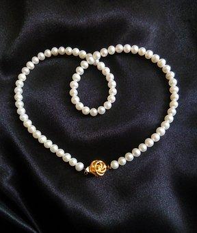 Pearl, Pearl Necklace, Jewelry, Jewel, Pearl Strand