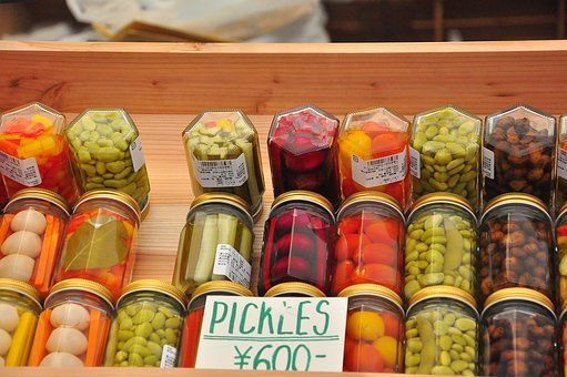 Farmers' Market, Pickles, Colourful, Healthy, Jar