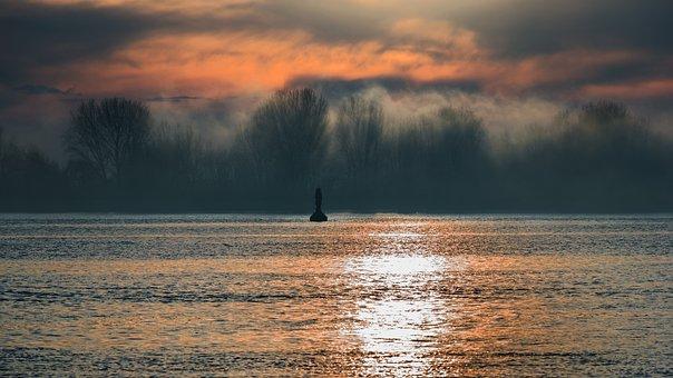 Fog, River, Water, Nature, Landscape, Haze, Bank, Foggy