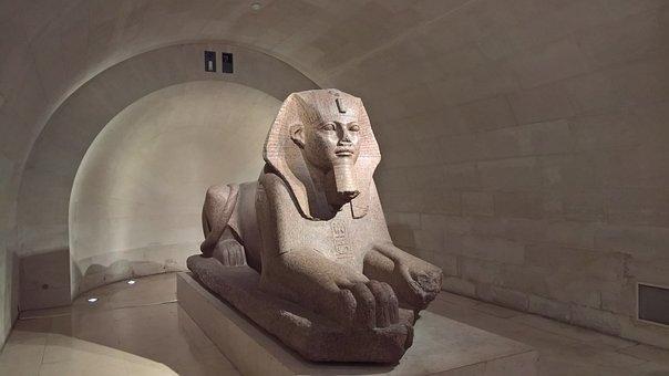 Ancient Egypt, Sphinx, Sculpture, Museum, Louvre