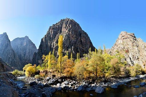 Turkey, Coruh River, River, Streaming, Dd, Pebbles