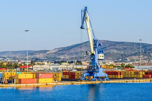 Crane, Port, Harbor, Cargo, Shipping, Container, Dock