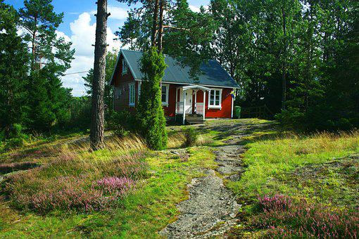 Sweden, Holiday House, Nature
