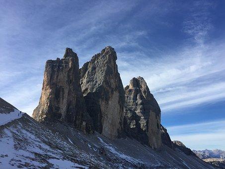 Mountain, Three Peaks Of Lavaredo, Landscape, Karst