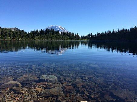 Summit, Lake, Washington, Mountain, Nature, Water, Peak