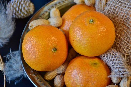 Tangerines, Peanuts, Nuts, Christmas, Advent, Healthy