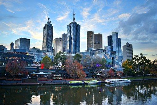 Melbourne, City, Skyline, Australia, Cityscape, Travel