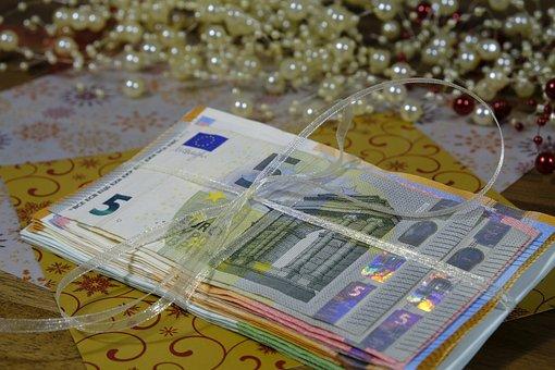 Money, Bank Note, Banknote, Euro, Gift, Give, Bundle