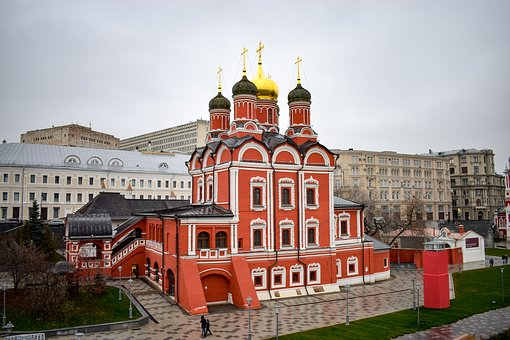 Moscow, City, Capital, Russia, Church, Park, Charge