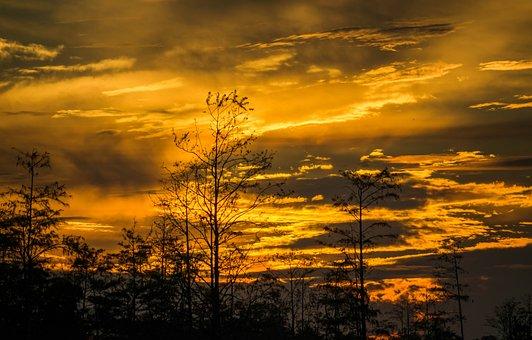 Sunset, Dusk, Sun, Cloud, Evening, Yellow, Orange
