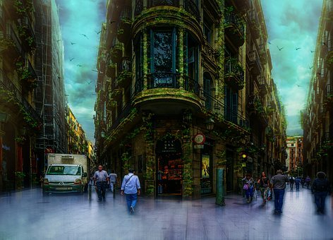 Barcelona, Street, Gothic, Quarter, Spain, Architecture