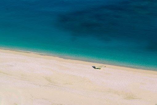 Turquoise, Beach, Blue, Myrtos, Kefalonia, Island