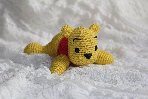 Bear, Winnie The Pooh, Toy, Knitted Toy, Teddy-bear