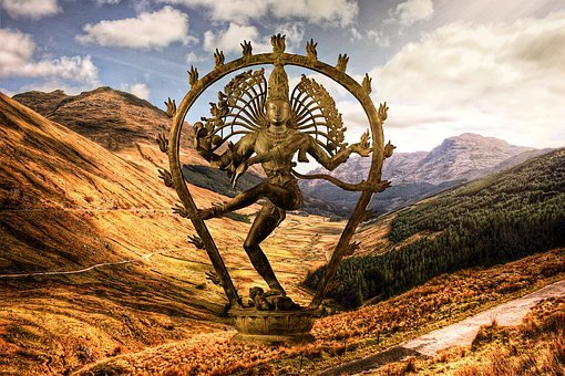 Shiva, Nataraja, Dancer, Cosmic Dancer, Landscape