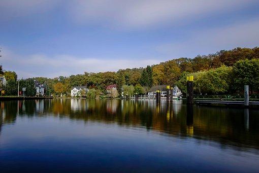 Landscape, Autumn, Lake, Nature, Mirroring, Colorful