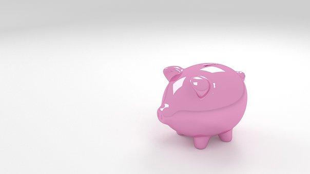 Piggy, Bank, 3d, Render, Money, Finance, Banking