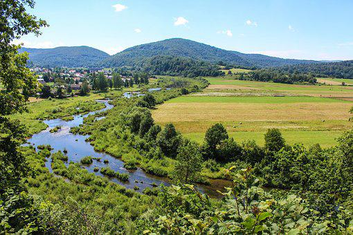 Bieszczady, Summer, Poland, Holiday, River