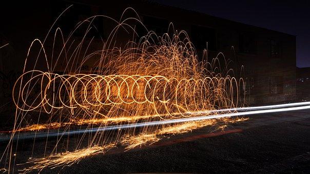 Light, Night, Sky, Steel Wool, Ali, Flash