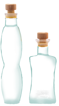 Glass, Bottle, Transparent, Isolated, Glasses, Liquid
