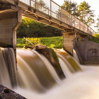 Wolfratshausen, Long Exposure, Soft Water, Waterfall
