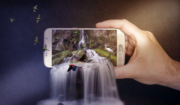 Waterfalls, Phone, Smartphone, Nature, Cellphone
