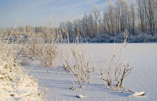 Lake, Morning, November, Winter, Landscape, Nature