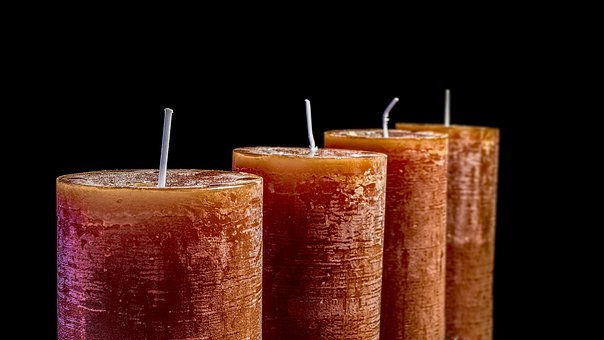 Candles, Christmas, Greeting Card, Advent, Light