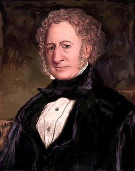 Man, Painting, Portrait, Captain William Smith, Artist