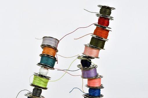 Thread, Yarn, Sew, Sewing Thread, Thread Spool, Close